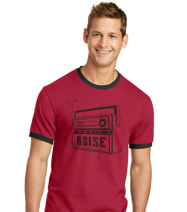 Radio Boise red ringer T-shirt