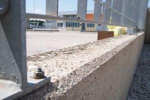 Parte della superficie trattata con Brickcover