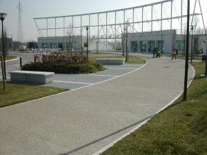 Applicazione di Vetrofluid. Parco San Giuliano.