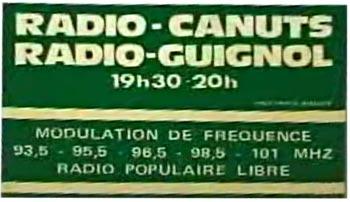 Affiche de Radio-canuts, une radio libre de Lyon