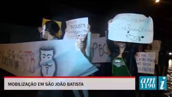 Batistenses protestaram na sexta-feira