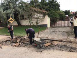 Prefeitura de Canelinha inicia a manutenção asfált...