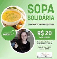 """Sopa solidária """"Juntos por Duda"""" acont..."""