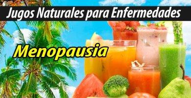 Jugos Naturales para menopausia
