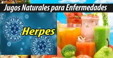 Jugoterapia JUGOS PARA el HERPES remedio natural