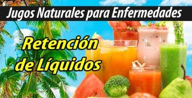 Jugoterapia Jugos Naturales para retención de liquidos