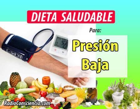 Dieta para la Presión Baja