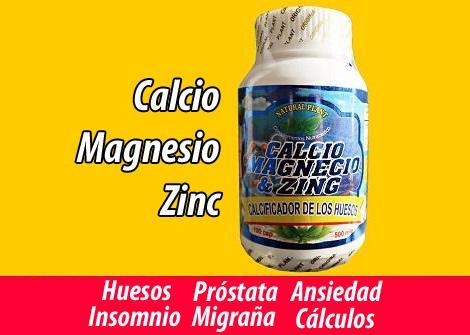 Calcio magnesio Zinc prostata INSOMNIO huesos