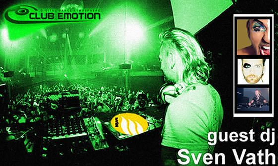 flyer Sven Vath - club emotion guest dj