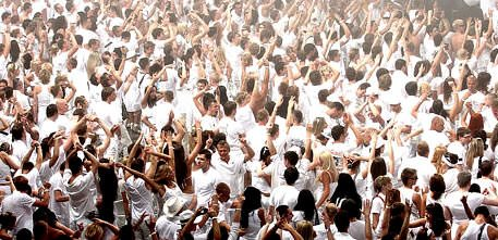 people in white at sensation white party
