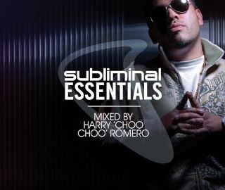 Subliminal Essentials by Harry Choo Choo Romero - album cover with Romero face and glases