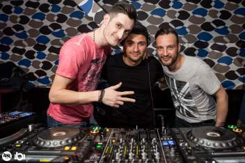 Mihai Dafinoiu, Shlomi Aber si Double Deez la The Gap Club