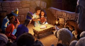 Joseph (Zachary Levi) and Mary (Gina Rodriguez) in Sony Pictures Animations' THE STAR.