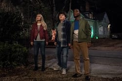 Madison Iseman (Sarah) Jeremy Ray Taylor (Sonny) Caleel Harris (Sam) in Columbia Pictures' GOOSEBUMPS 2: HAUNTED HALLOWEEN.