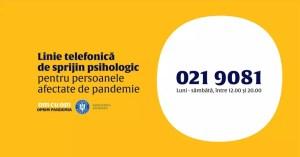 O nouă linie telefonică de suport psihologic-emoțional în context COVID-19