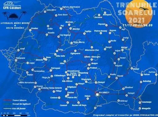 """Legături directe cu Delta Dunării prin programul """"Trenurile Soarelui 2021"""""""