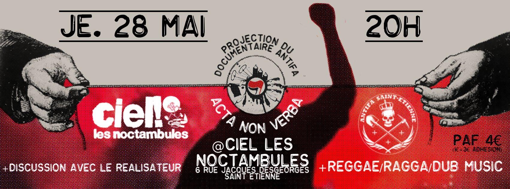 """PROJECTION DU DOCUMENTAIRE """"ACTA NON VERBA"""" @ NOCTAMBULE"""