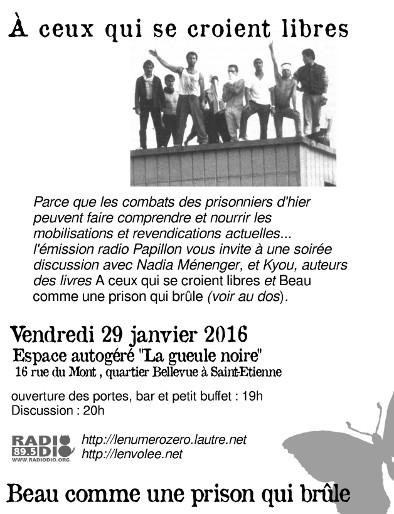 Soirée Papillon / Discussions sur les combats des prisonniers