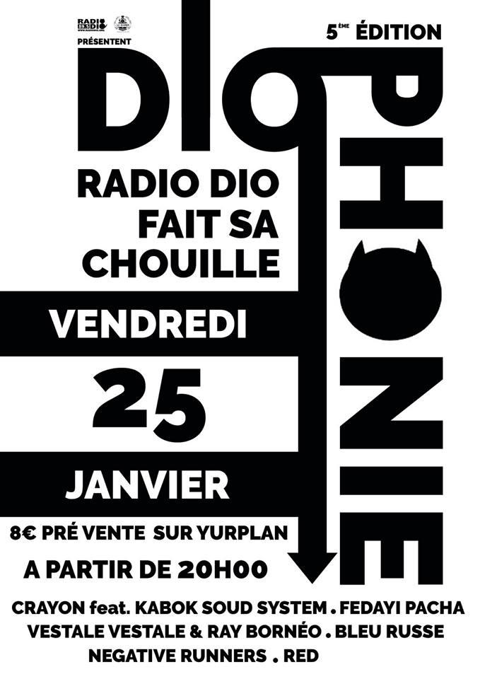 DIOPHONIE#5 le 25 janvier au Clapier !