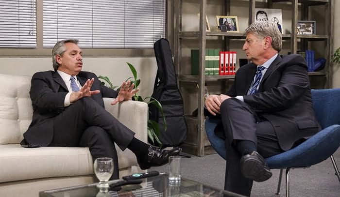 Ziliotto se reunió con Alberto Fernández en Buenos Aires