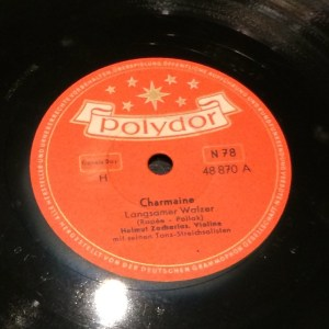 "Disco Pizarra Gramófono ""Chermaine"" - radioexperto.com"