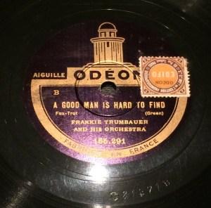 "Disco Pizarra gramófono - ""A good man is hard to find""- Radioexperto.com"