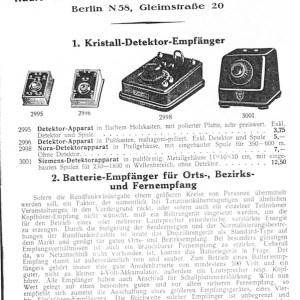 Catalogo de radios 1930-1931 - Radio-Zentrale Alex. V. Prohaska G.m.b.H.