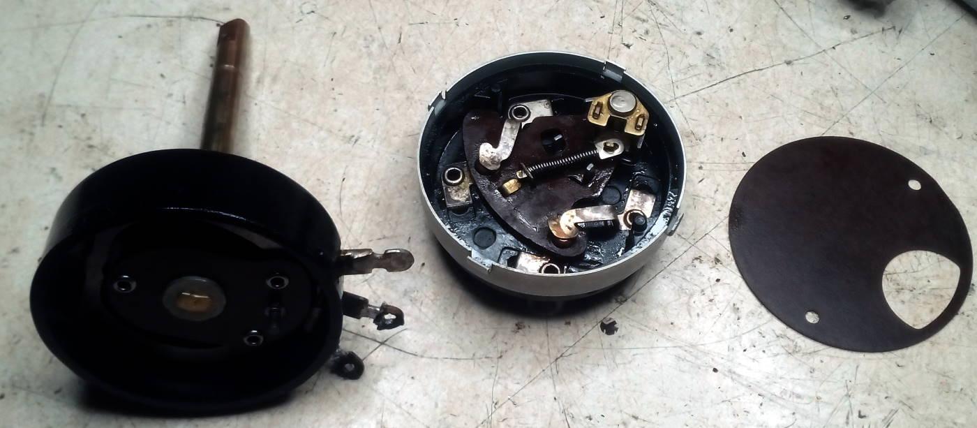 Reparación Potenciómetro radio antigua - Autoradio Philco mod 7 - 3