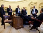 Tea Party and Conservatives Enraged Because President Obama Has his Foot on the Desk? Look, We have Even MORE pics 2