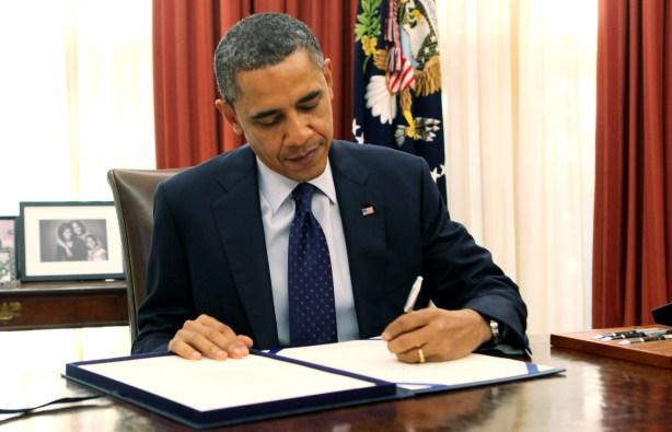 President Barack Obama Signs Payroll Tax Bill