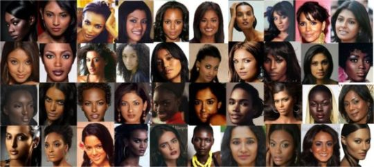 black and brown women