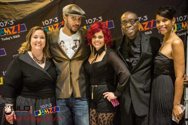 Mary K (PD), Lyfe Jennings, Kelly Mac (Middays Show Host), Craig Davis, Rhonda Rawlings (News Director of WJMZ)