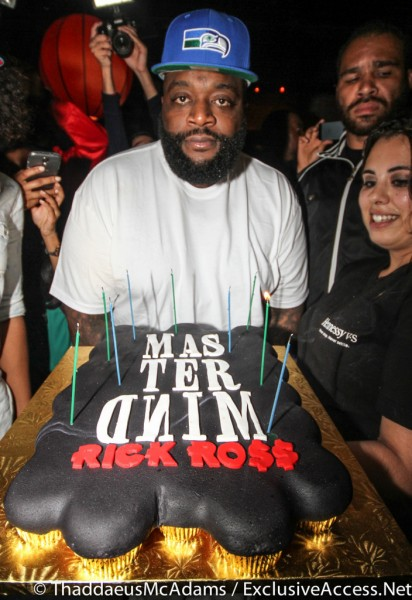 Rick Ross received a cake