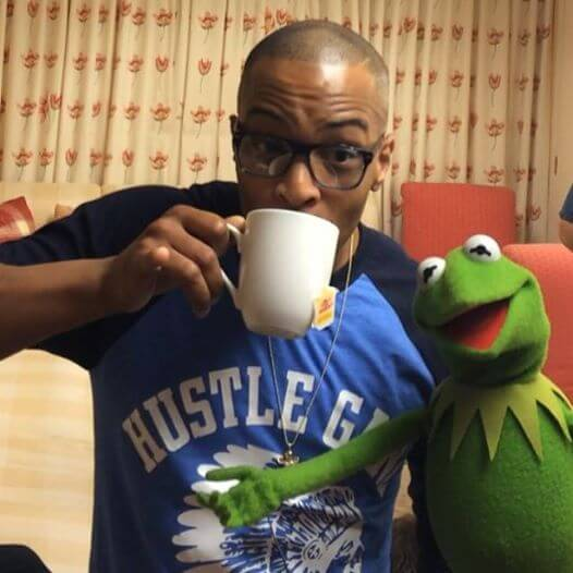 T.I. Sips Tea With Kermit...