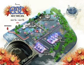 5th Annual Electric Daisy Carnival NY Festival Map (PRNewsFoto/Insomniac)