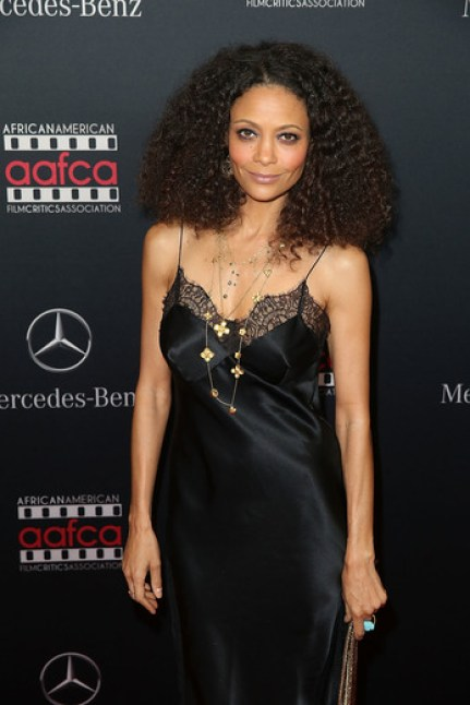 Thandie Newton at the MERCEDES-BENZ & AAFCA Oscar viewing party in Hollywood