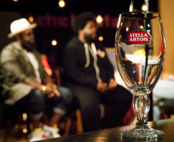 """Hip-hop band The Roots joins Stella Artois in the studio to create """"Bittersweet"""", an original song you can taste, designed to complement and enhance the flavor profile of the iconic Belgian beer. (PRNewsFoto/Stella Artois)"""