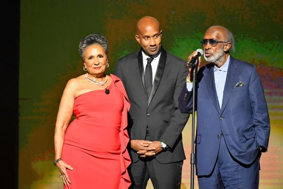 Host and Radio One, Inc. Founder and Chairperson Cathy Hughes, Alexander Avant and Clarence Avant at the URBAN ONE HONORS on Thursday, December 5, 2019 in Oxon Hill, MD at the MGM National Harbor.
