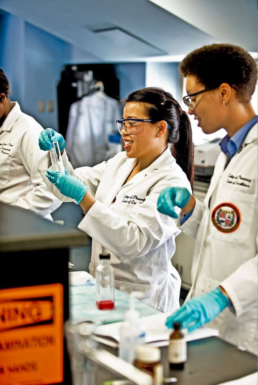 Howard University Pharmacy Lab students