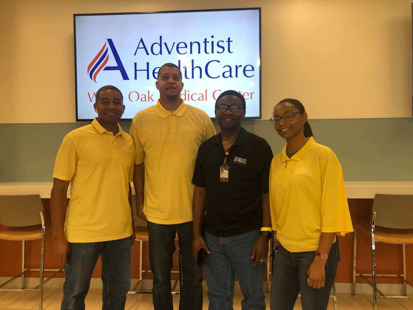 Howard University Health Science Professors with student at Adventist HealthCare Medical Center in White Oak - Maryland .JPG
