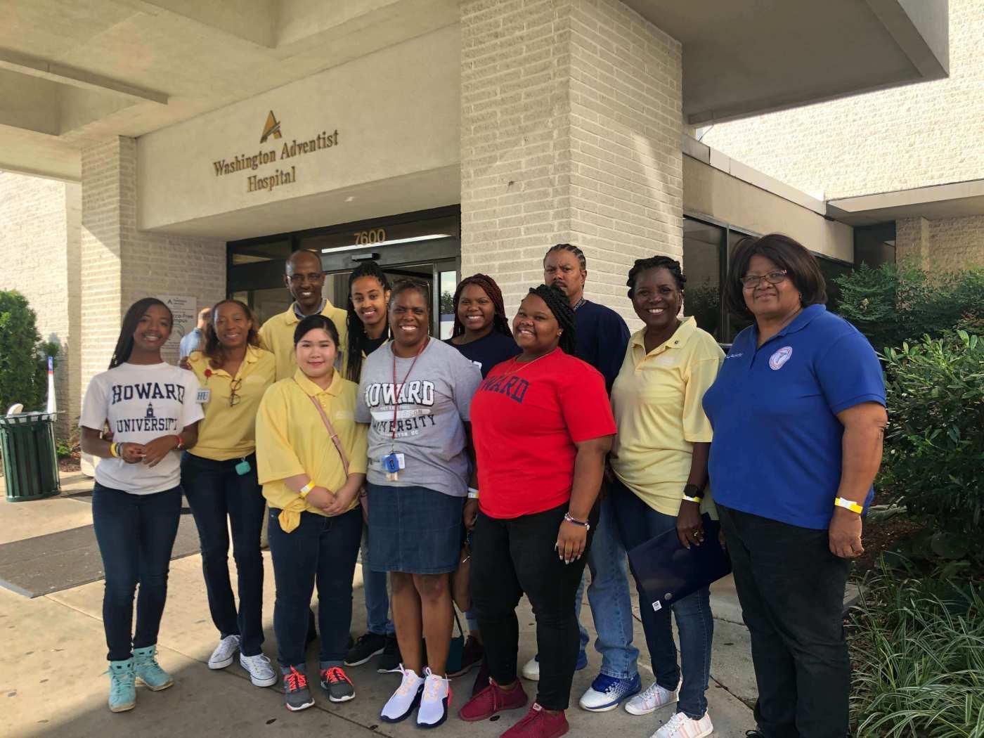 Howard University Staff and Students at Washington Adventist HealthCare in Takoma Park Maryland
