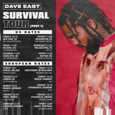 """Dave East """"Survival"""" Out Now"""