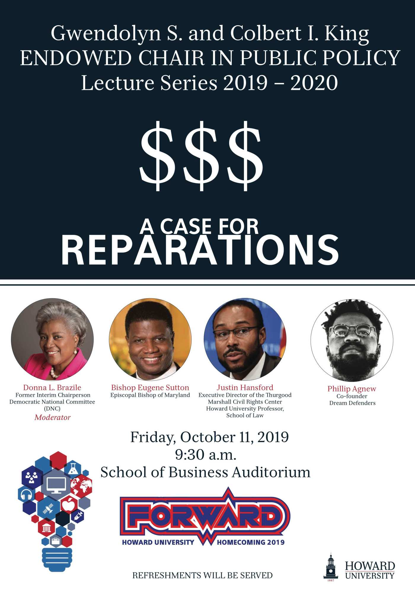 King Lecture Series : The Case for Reparations at Howard University HU Ideas Symposium on Oct 11 at 9:30am
