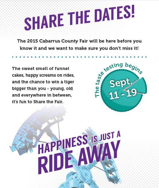cabarrus county fair share the dates 2015