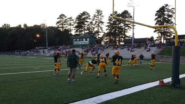 Central Cabarrus warming up for game in 2014