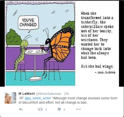 Caterpillars can't understand butterflies.