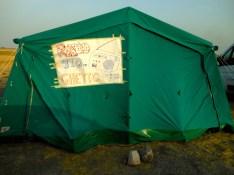 La tenda del primo anno di Radio Ghetto. 2012