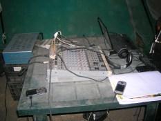 L'attrezzatura della prima radio. 2012