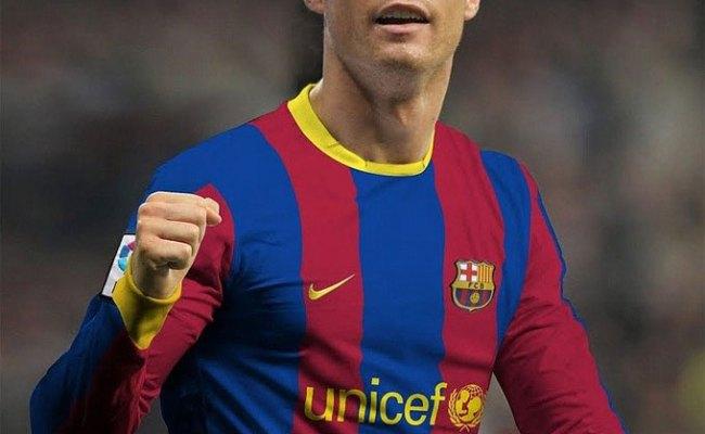Cr7 No Descarta Vestir La Camiseta Del Fc Barcelona