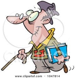 student cartoon college senior clip clipart royalty students illustration toonaday rf grumpy class music therapy feeding male long cane waving